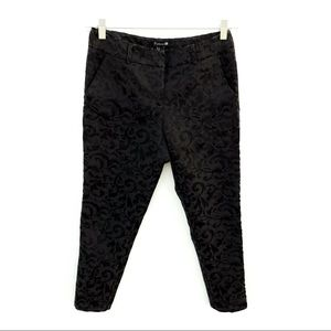 Forever 21 Black Luxurious Textured Cropped Pants